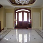 Custom design for marble mosaic floor