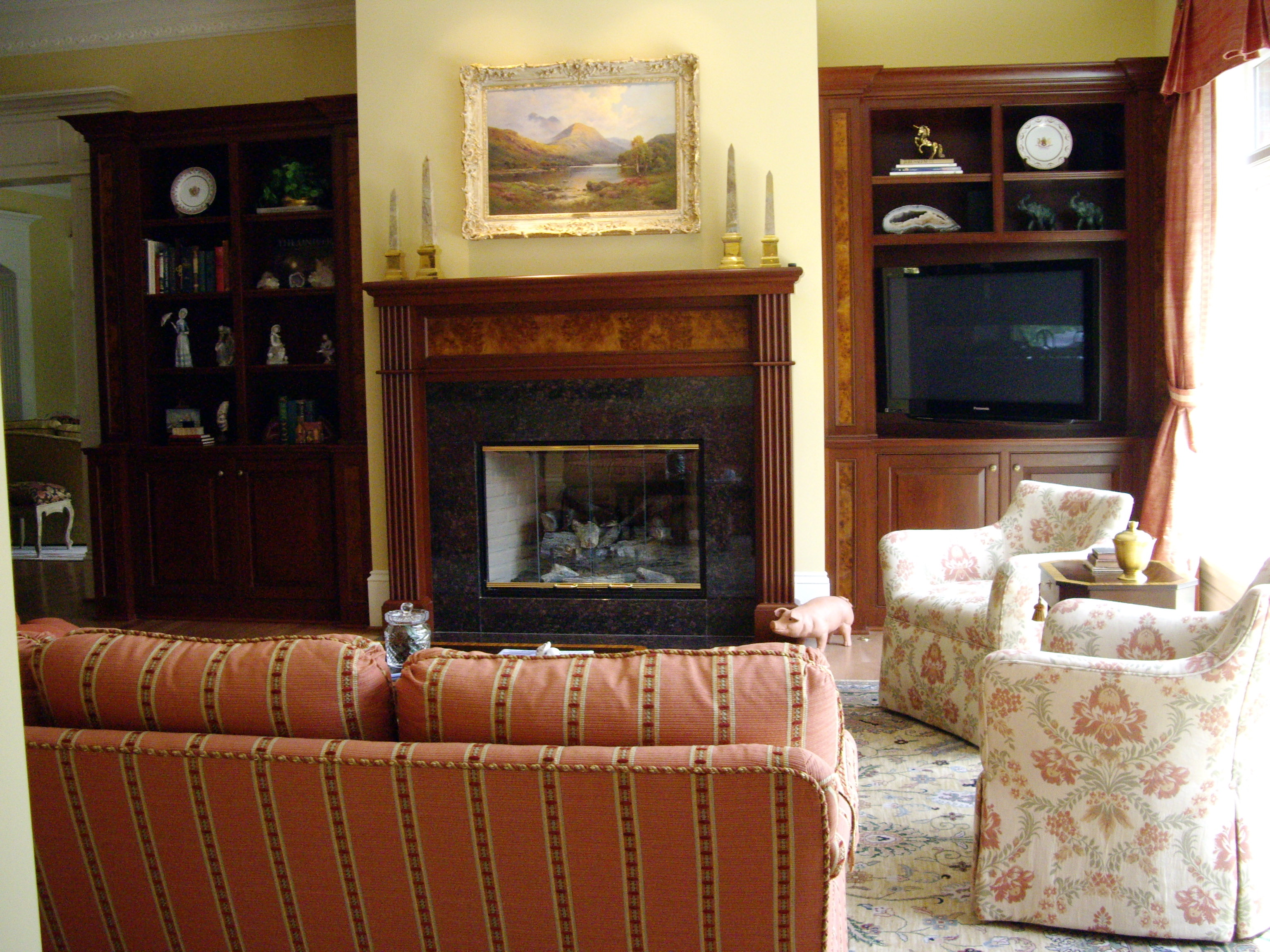 Lum Bookcases and Mantle 1