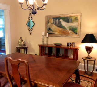 Original painting in client's dining room